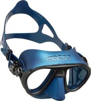 TSK Shop Freediving Freedive-Masken & -Schnorchel Cressi Calibro Mask Silber Blau / Silber Blau