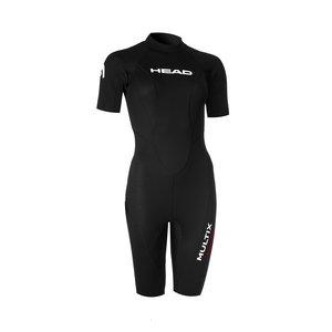 TSK Shop Swimming Schwimmanzüge Head Multix vs Lady Shorty 2.5mm XXL Schwarz / Rot