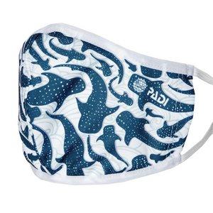 TSK Shop Freizeit Textil & Lycra PADI Gesichtsmaske inkl. 5 Filter Whale Sharks