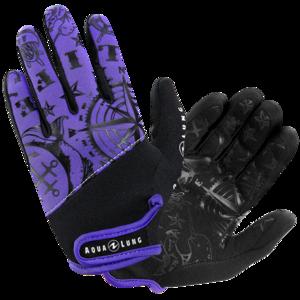 TSK Shop Tauchanzüge & Zubehör Handschuhe Aqua Lung Admiral III Women M Twilight / Schwarz