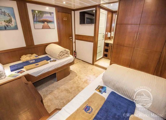 Maldives Aggressor II Twin Room