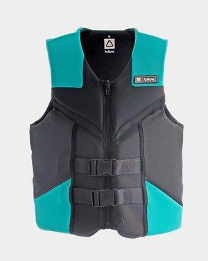 TSK Shop Freizeit SUP, Surfen & allg. Wassersport Follow Cure Mens CGA Jacket Grey/ Teal M