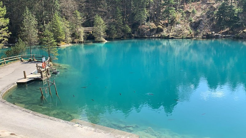 [Translate to English:] Traumhafter Blausee